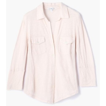 (JAMES PERSE/ジェームス パース)サイドパネルシャツ WUA3042/レディース 32ピンク系