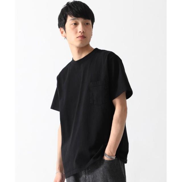 (BEAMS MEN/ビームス メン)GOODWEAR / ポケット Tシャツ/メンズ BLACK