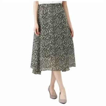 (MAC HOUSE(women)/マックハウス レディース)Navy ネイビー 花柄スカート 128819507/レディース カーキ