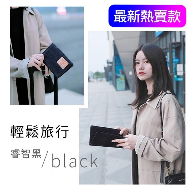 【晨品】GOX 日版 超輕時尚 防RFID 商務護照夾/錢包 長版睿智黑