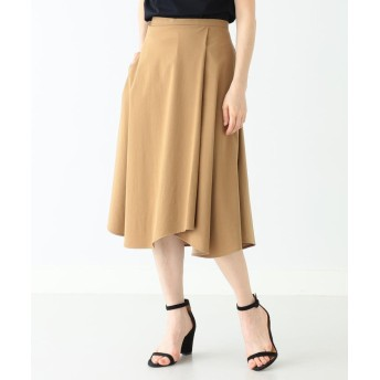 (BEAMS OUTLET/ビームス アウトレット)Demi-Luxe BEAMS / フロントタック フレアスカート/レディース CAMEL