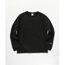 (NOLLEY'S goodman/ノーリーズグッドマン)【Champion/チャンピオン】T1011(ティーテンイレブン) ポケット付きロングスリーブTシャツ (C5-P401)/メンズ ブラック