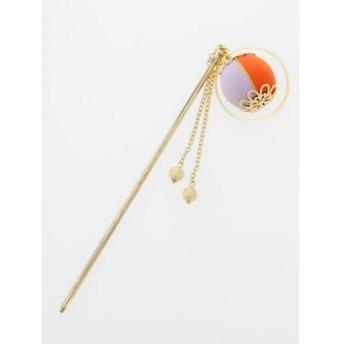 (KAYA/カヤ)【カヤ】重ね手鞠かんざし/レディース オレンジ