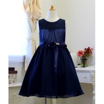 (Little Princess/リトルプリンセス)子供ドレス 301008/ ネイビー