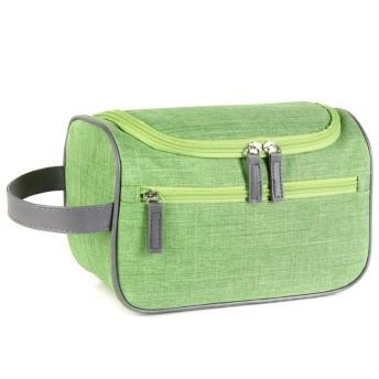 メイクバッグ Akane 人気 オシャレ 耐摩耗 多機能 便利 綺麗に収納 気軽 日常 旅行 出張 手持ち 防水 化粧バッグ (5色) (ライトグリーン)