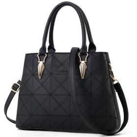ハンドバッグ - 甘さとスタイリッシュな女性のバッグ、防水性と耐摩耗性、大容量黒のカジュアルなスタイルのハンドバッグ(22センチメートル 30センチメートル 13センチメートル) 綺麗な