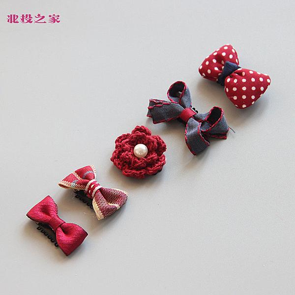 韓系汗毛夾 禮盒五件組 髮量少推薦的兒童髮夾 幸福蝴蝶結 (嬰幼兒/寶寶/小孩/髮飾/頭飾)