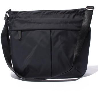 (Y'SACCS/イザック)ナイロンタフタショルダーバッグ たて型/レディース ブラック