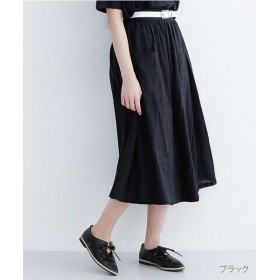 (merlot/メルロー)ドットドビービックポケットスカート/レディース ブラック
