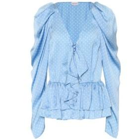 マグダ ブトリム Magda Butrym レディース ブラウス・シャツ トップス Cefalu polka-dot silk blouse Blue