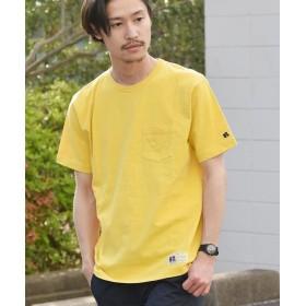 (SHIPS MEN/シップス メン)RUSSELL ATHLETIC×SHIPS: 別注 ユーズド加工 Tシャツ 19SS/メンズ イエロー系