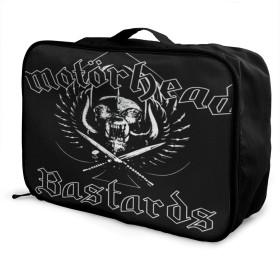 旅行用収納バッグ ヨーロッパとアメリカの音楽Motorhead タウンリュック、持ち運びが簡単、人気のハンドバッグ 日常の保管袋、ハンドバッグ、出張用の荷物袋などに使用できます。