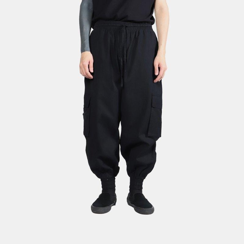 雙口袋縮口氣球褲 V2