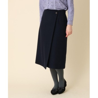 (Couture Brooch/クチュール ブローチ)ライトメルトンラップ風スカート/レディース ネイビー(093)