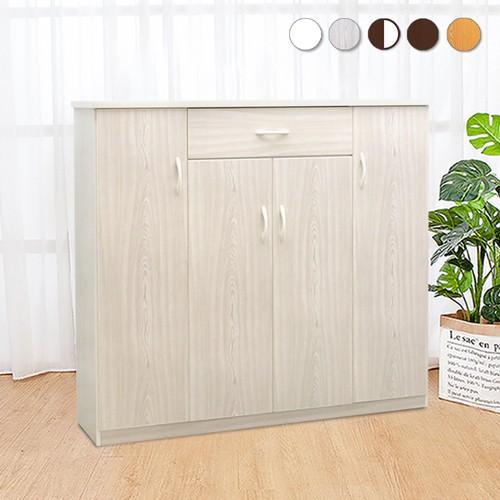 Boden-防潮防蛀 防水塑鋼4.3尺四門一抽鞋櫃(五色可選)