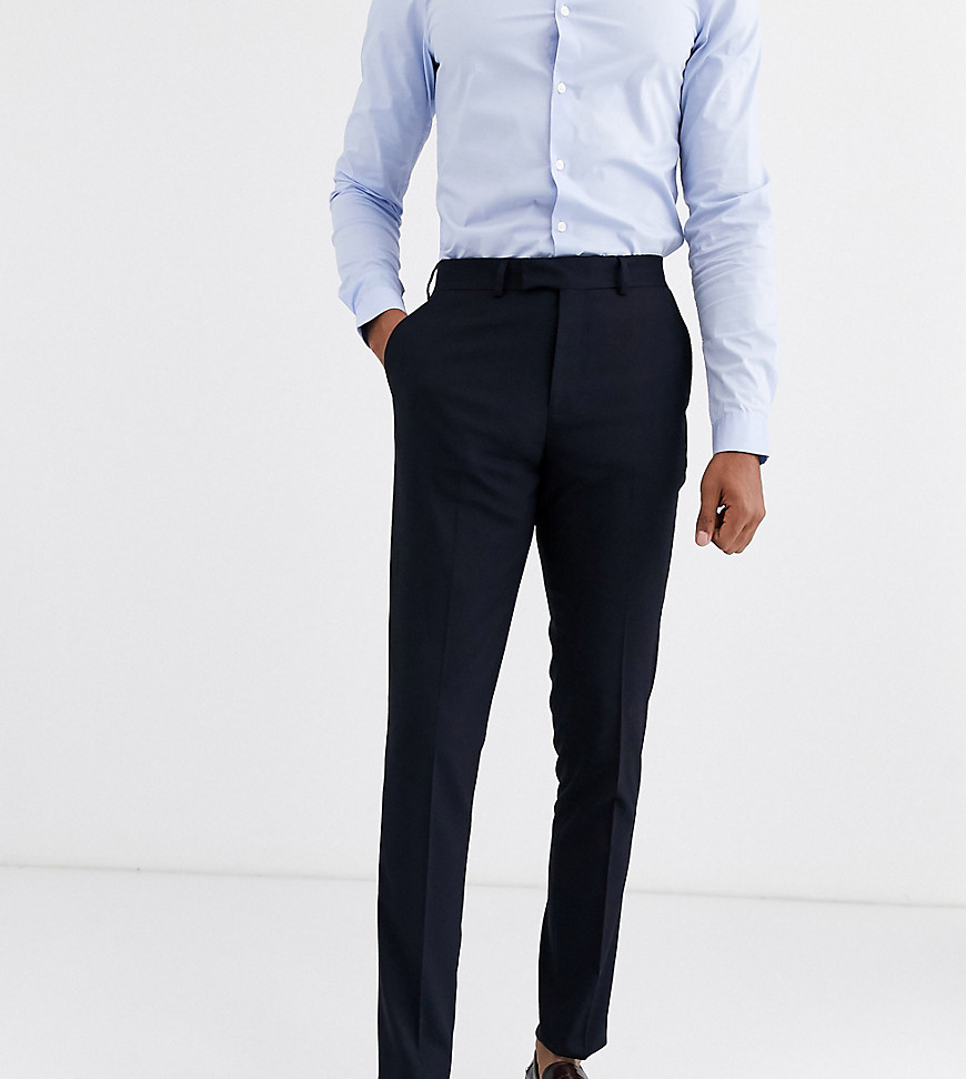 ASOS DESIGN Tall skinny suit trousers in navy