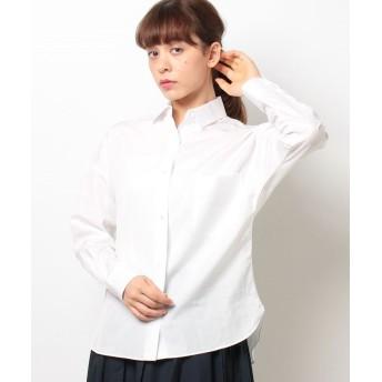 (allureville/アルアバイル)ブロードビックシャツ/レディース ホワイト