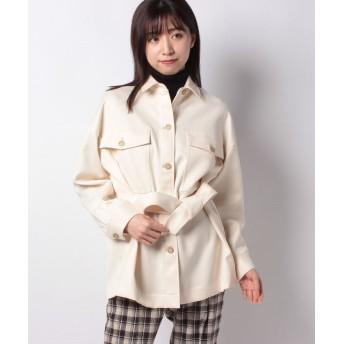 (sophila/ソフィラ)ビッグシャツジャケット/レディース アイボリー