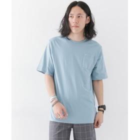 (URBAN RESEARCH OUTLET/アーバンリサーチ アウトレット)【WAREHOUSE】裾刺繍C/N半袖TEE/メンズ サックス
