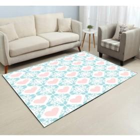 洗える 防ダニ 抗菌 防臭 ノイズを減らす 折り畳み カーペット(ファッション新花シリーズ) 滑り止め付 ポリエステル繊維 多色選 居間 玄関 絨毯 マット 長方形 畳のラグ オールシーズンご使用いただけます「120×160CM」