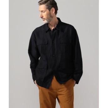 (TOMORROWLAND MENS/トゥモローランド メンズ)リネンポリエステルカルゼ サファリシャツジャケット/メンズ 69ネイビー