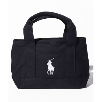 (POLO RALPH LAUREN/ポロラルフローレン)【POLO RALPH LAUREN】School Tote Small II (ファスナー開閉)/レディース NAVY/WHITE