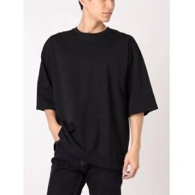(COTORICA./コトリカ)バックドルマンBigTシャツ/メンズ ブラック