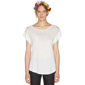 (BENETTON (women)/ベネトン レディース)袖切り替えロゴ半袖Tシャツ・カットソー/レディース ホワイト