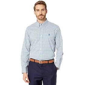 [Polo Ralph Lauren(ポロラルフローレン)] シャツ・ワイシャツ等 Classic Fit Plaid Poplin Shirt Blue/Yellow Multi XS [並行輸入品]
