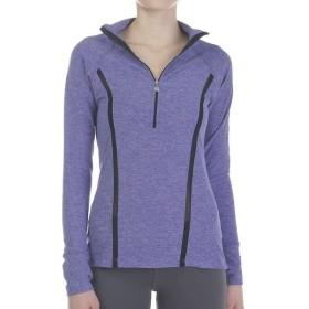 ビヨンドヨガ Beyond Yoga レディース ブラウス・シャツ トップス lattice half zip pullover Faded Denim/Lavender Mist