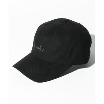 (BENETTON (women)/ベネトン レディース)ベネトンロゴフェイクスエードキャップ・帽子/レディース ブラック