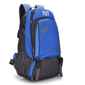 登山リュックサック バックパック 軽量45Lトレッキングリュックサックキャンプハイキングアウトドアバックパックアドベンチャーキャンプハイキング登山旅行バックパッキング 旅行バッグ (Color : Blue, Size : 45L)