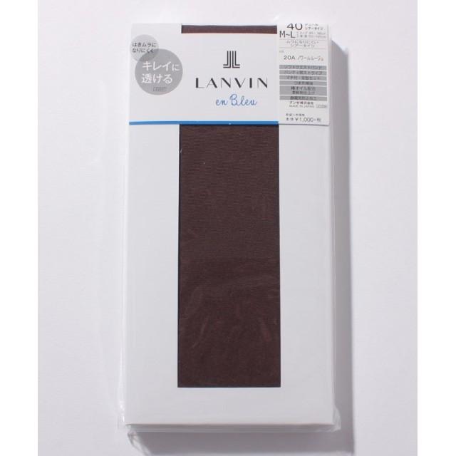 (LANVIN en Bleu(ladies socks)/ランバンオンブルーレディスソックス)タイツ(40D)/レディース ノワールルージュ