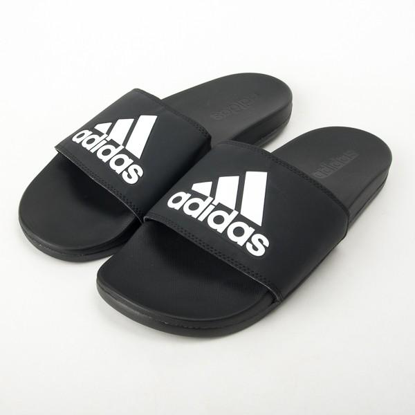 adidas 愛迪達 Adilette Aqua 防水 運動拖鞋 黑/白 CG3425