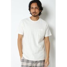 (ikka/イッカ)梨地無地クルーネックTシャツ/メンズ ホワイト