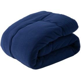アイリスプラザ 掛け布団 シングル ネイビー毛布 洗える あったか ふわふわ シープボア調