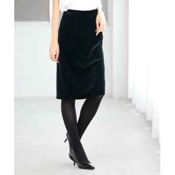 (ANAYI/アナイ)【セットアップ対応商品】ベロアタイトスカート/レディース ネイビー