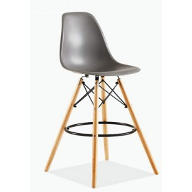 イームズハイスツール、プラスチックバーチェア、クリエイティブ・バースツール、レジファッションバーのテーブルと椅子、北欧バーチェア(4パック) (Color : Iron gray)