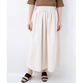 (haco!/ハコ)楽してスタイルが決まる 涼やか麻混スカート/レディース ベージュ