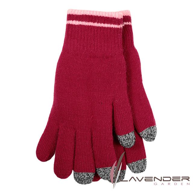Lavender-i-Touch觸控雙層手套-素面-紅-(女)