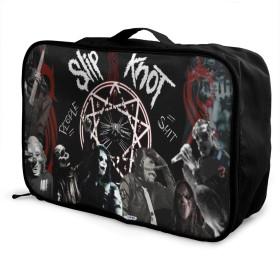 旅行用収納バッグ ヨーロッパとアメリカの音楽Slipknot タウンリュック、持ち運びが簡単、人気のハンドバッグ 日常の保管袋、ハンドバッグ、出張用の荷物袋などに使用できます。