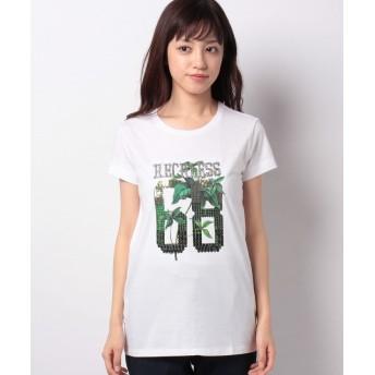 【49%OFF】 シスレー クロスミニフリル半袖Tシャツ・カットソー レディース ホワイト XS (国内S相当) 【SISLEY】 【タイムセール開催中】