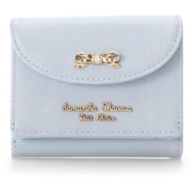 (Samantha Thavasa Petit Choice/サマンサタバサプチチョイス)パールエナメル 折財布/レディース ライトブルー