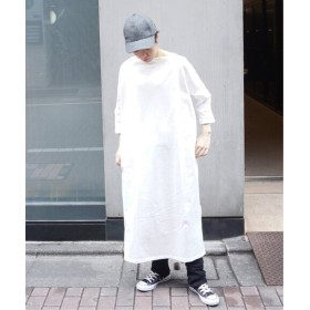 journal standard luxe へビージャージー ボートネックワンピース◆ ホワイト フリー