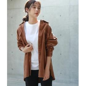 (koe/コエ)コーデュロイシャツジャケット/レディース キャメル