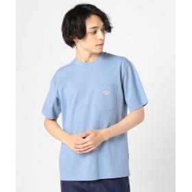 (GLOSTER/グロスター)【DANTON/ダントン】ポケット付Tシャツ JD-9041/メンズ サックス