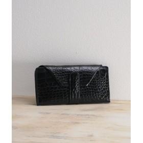 (mieno/ミーノ)[mieno] 牛革クロコ型押し財布/レディース ブラック
