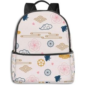 日本の家紋シンボル コンピュータバックパック大容量 リュック メンズ レディース 通学 通勤 おしゃれ 可愛い カジュアル 旅行 バックパック