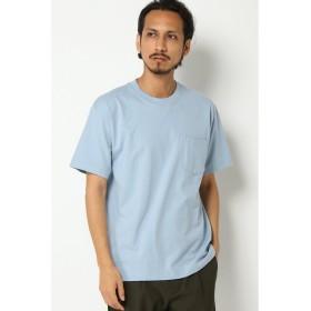 (ikka/イッカ)【HANES】(ヘインズ)【BEEFY】(ビーフィー)ポケットTシャツ/メンズ ライトブルー