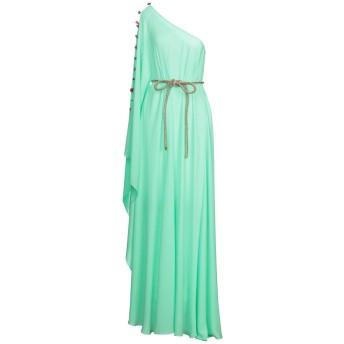 《セール開催中》MAESTRI レディース ロングワンピース&ドレス グリーン 10 ポリエステル 100%